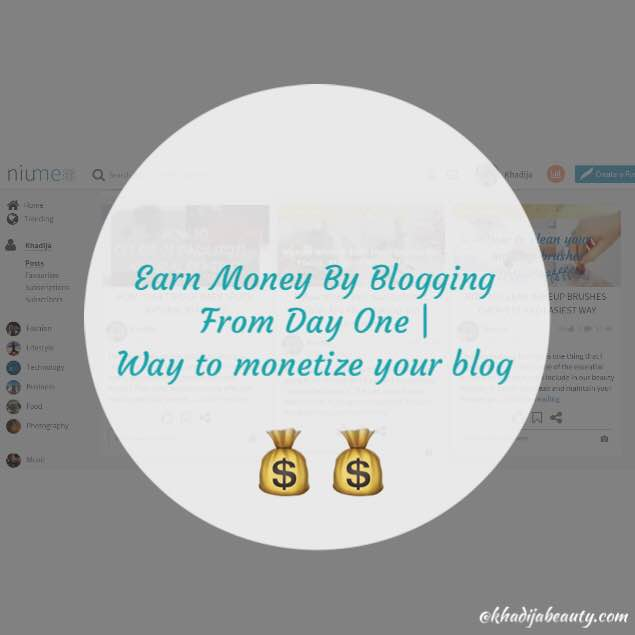 Earn Money By Blogging From Day One| Way To Monetize Your Blog