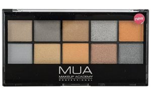 MUA eyeshadow palette going for gold