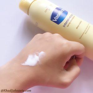 vaseline intensive care spray moisturiser review, comparison of spray moisturiser with lotion (1)