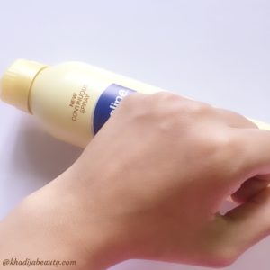 vaseline intensive care spray moisturiser review, comparison of spray moisturiser with lotion