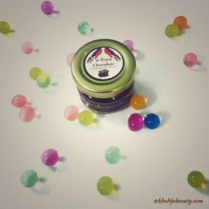 organic chocolate lip balm review, khadijabeauty