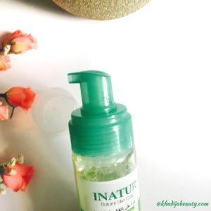 Inatur oil control facial foam review, khadija beauty