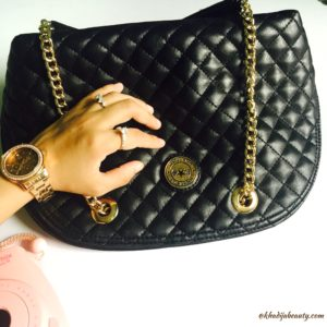 Rocky star handbag, chic and classy black handbag, khadijabeauty