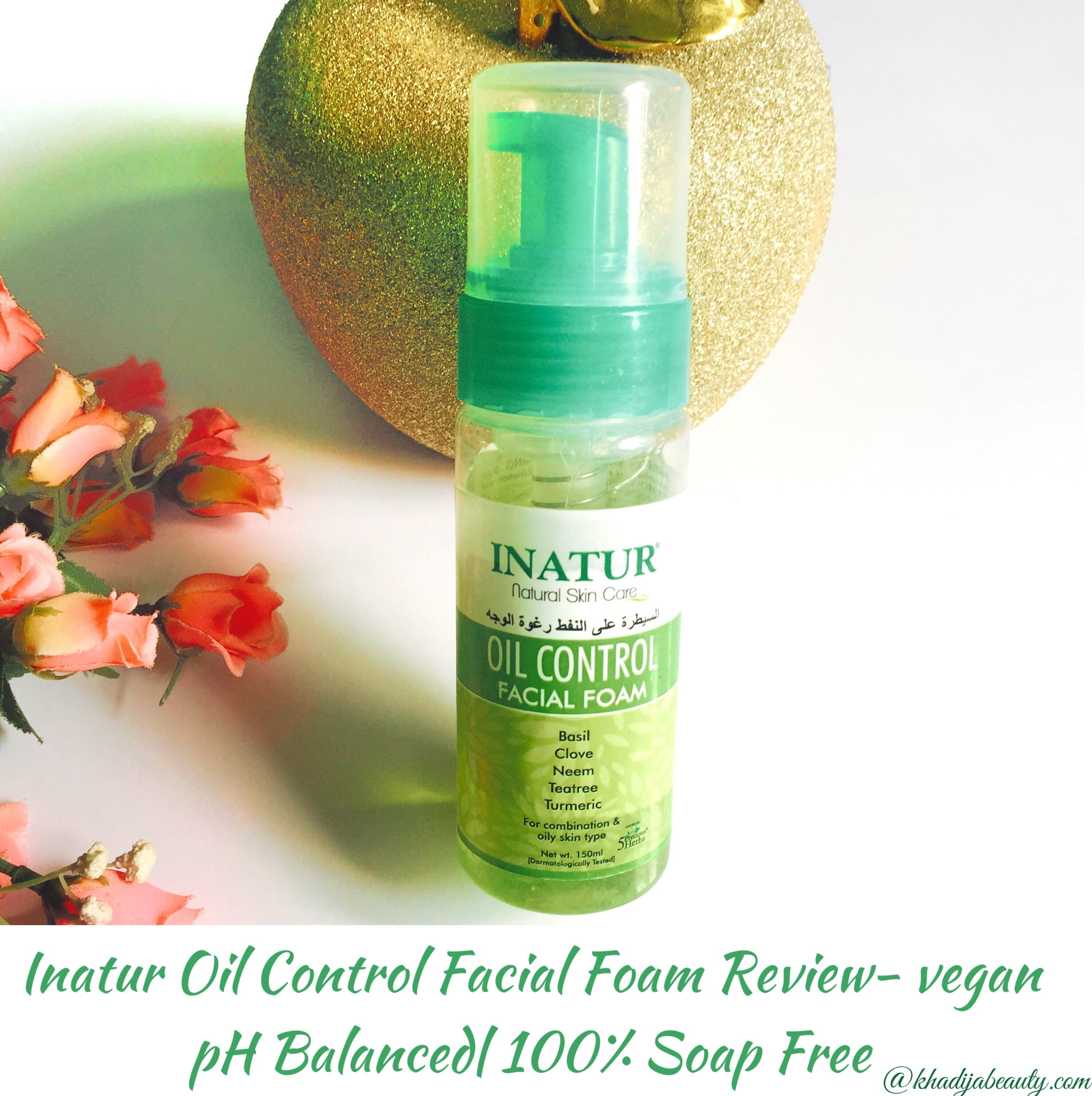 Inatur Oil Control Facial Foam Review| Vegan| pH balanced| Soap free