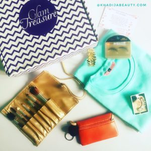 Glam treasure box review, khadija beauty