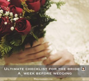 ultimate checklist for the bride