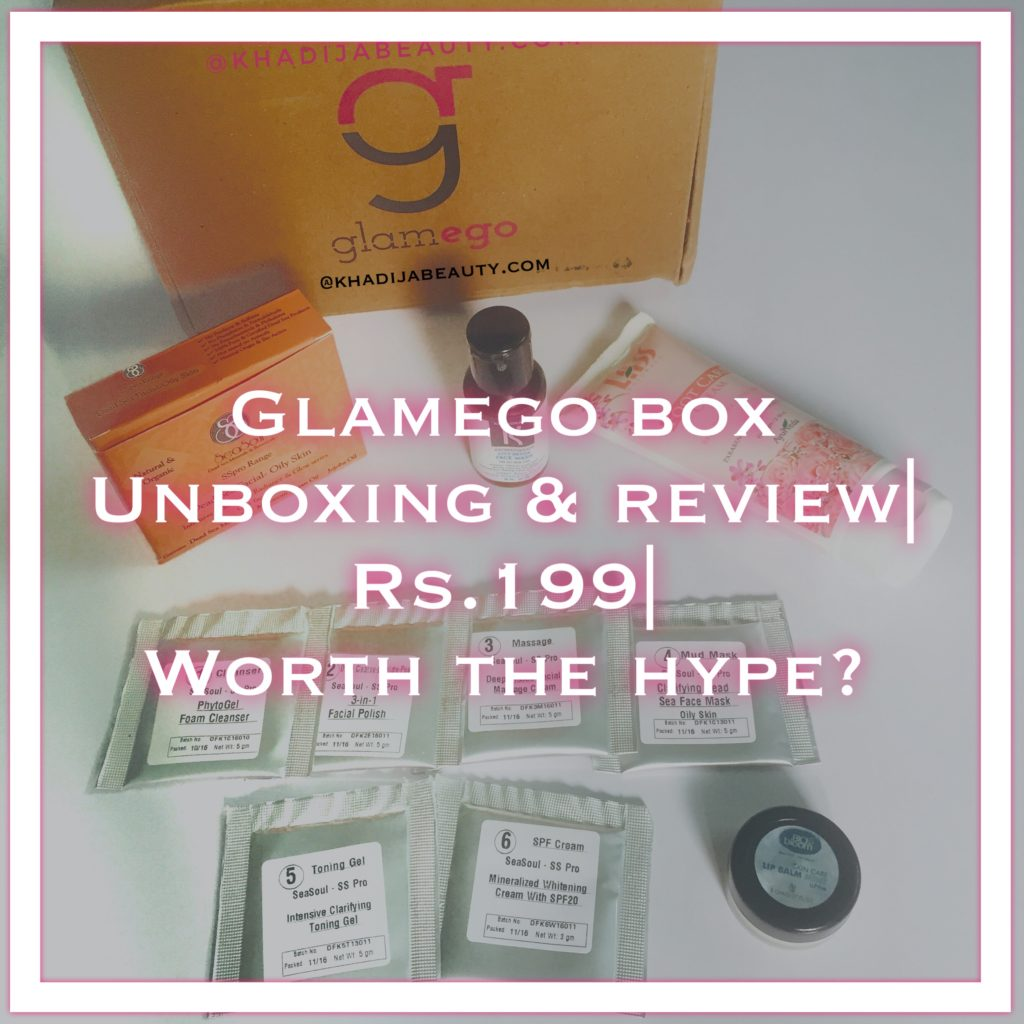 Glamego Box Unboxing And Review Rs 199 Worth The Hype