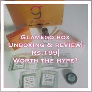 Glamego subscription box review, khadija beauty
