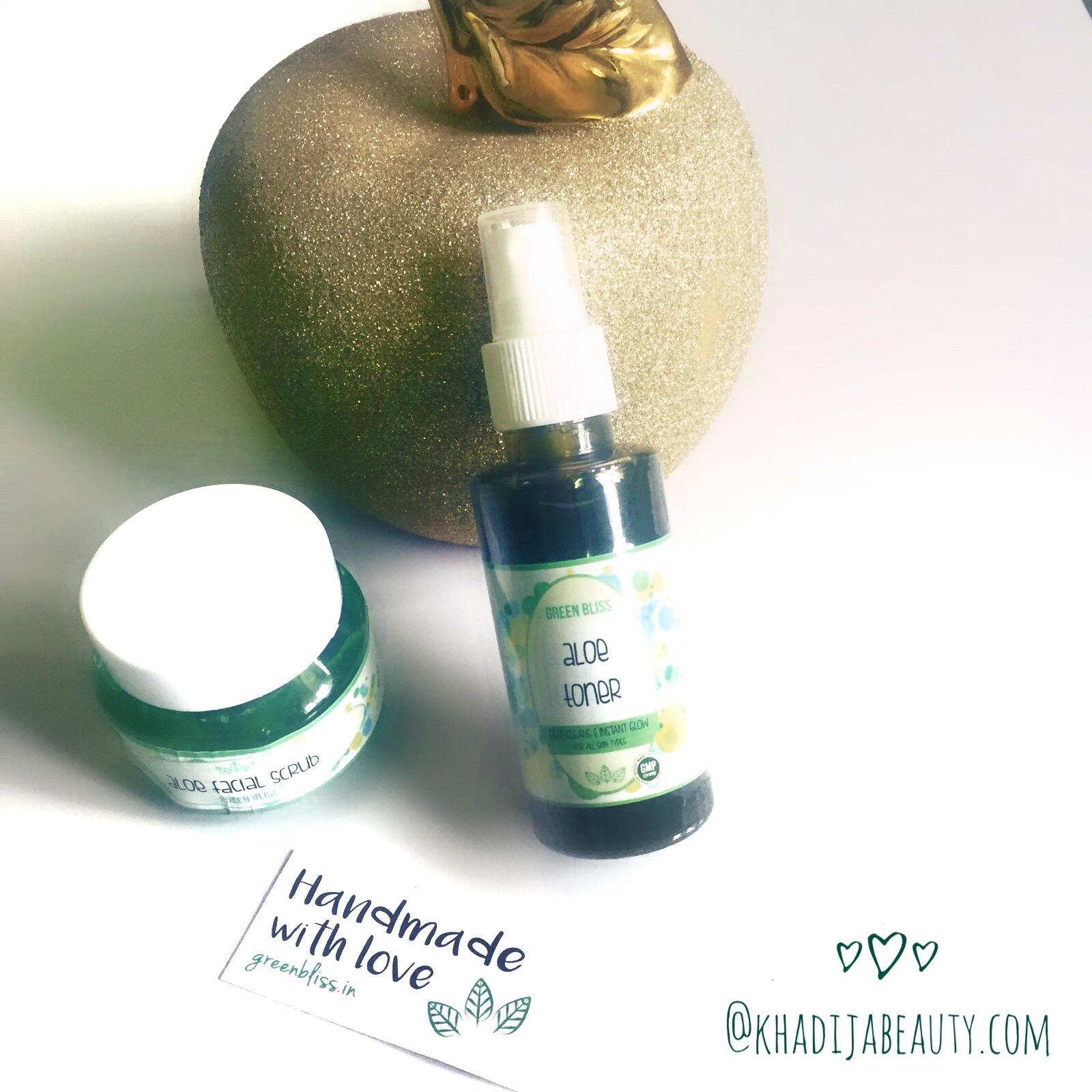 Green Bliss Aloevera Toner and Aloe vera scrub review