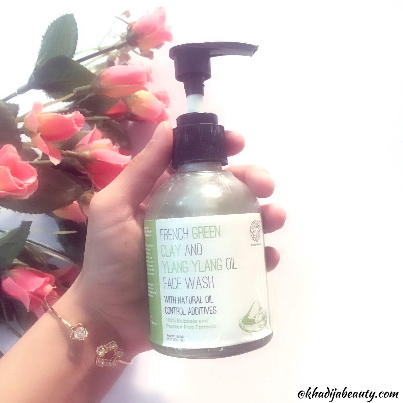 Greenberry Organics french green clay and ylang ylang oil face wash review