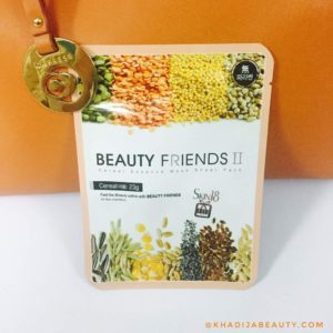 beauty friends II cereal essence face mask sheet review, skin18, khadija beauty