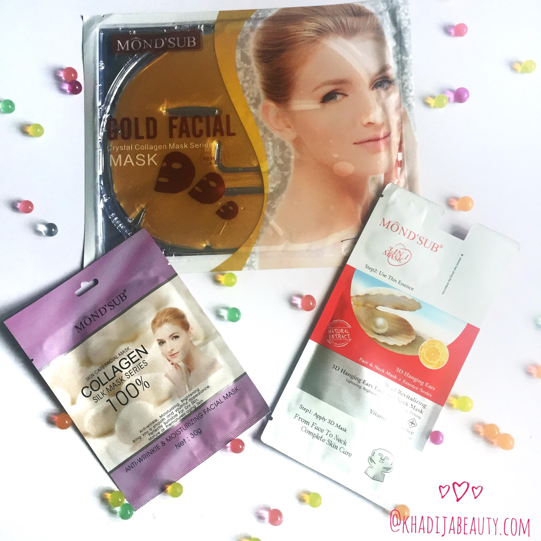 Mond'Sub Facial Sheet Masks Review| Get soft and silky skin