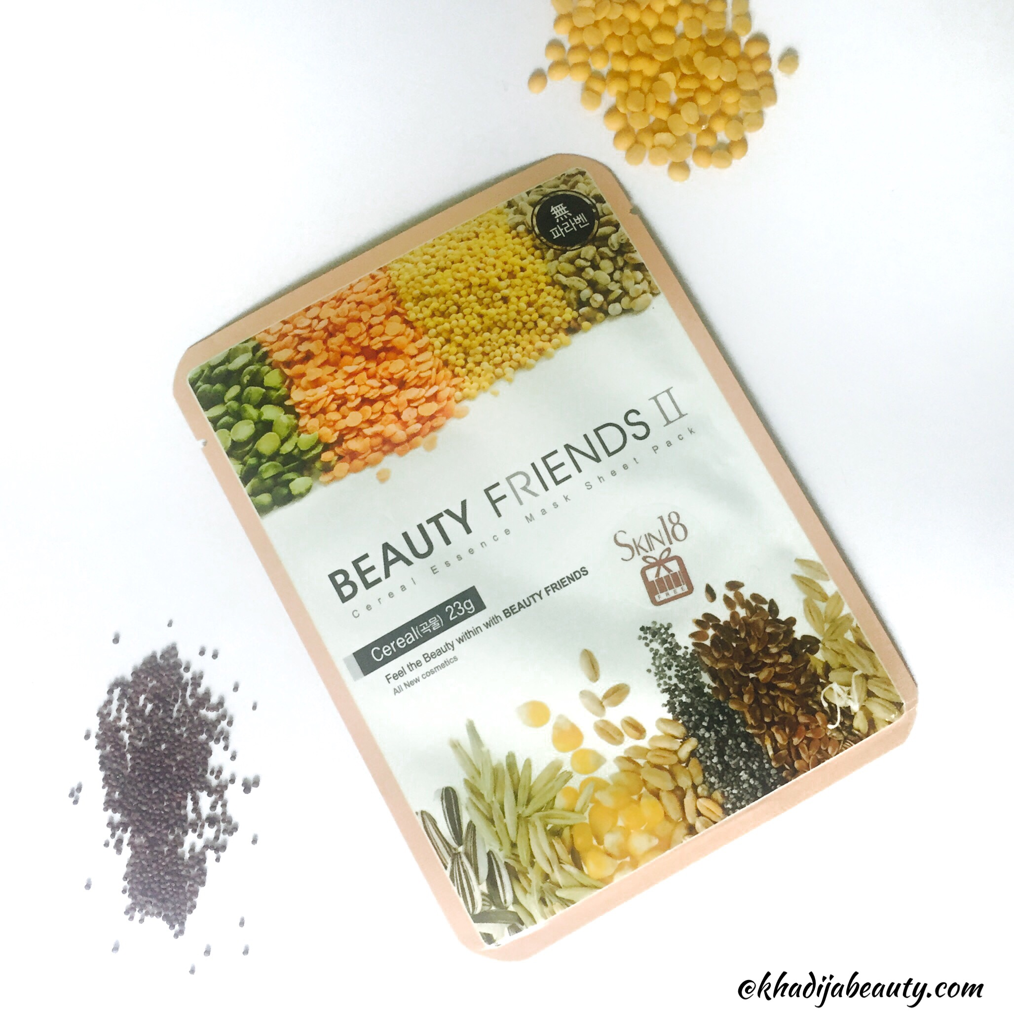 Beauty Friends II cereal Essence Mask Sheet Pack Review | Skin18.com