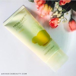 herb day 365 cleansing foam lemon review, the face shop face wash, khadija beauty