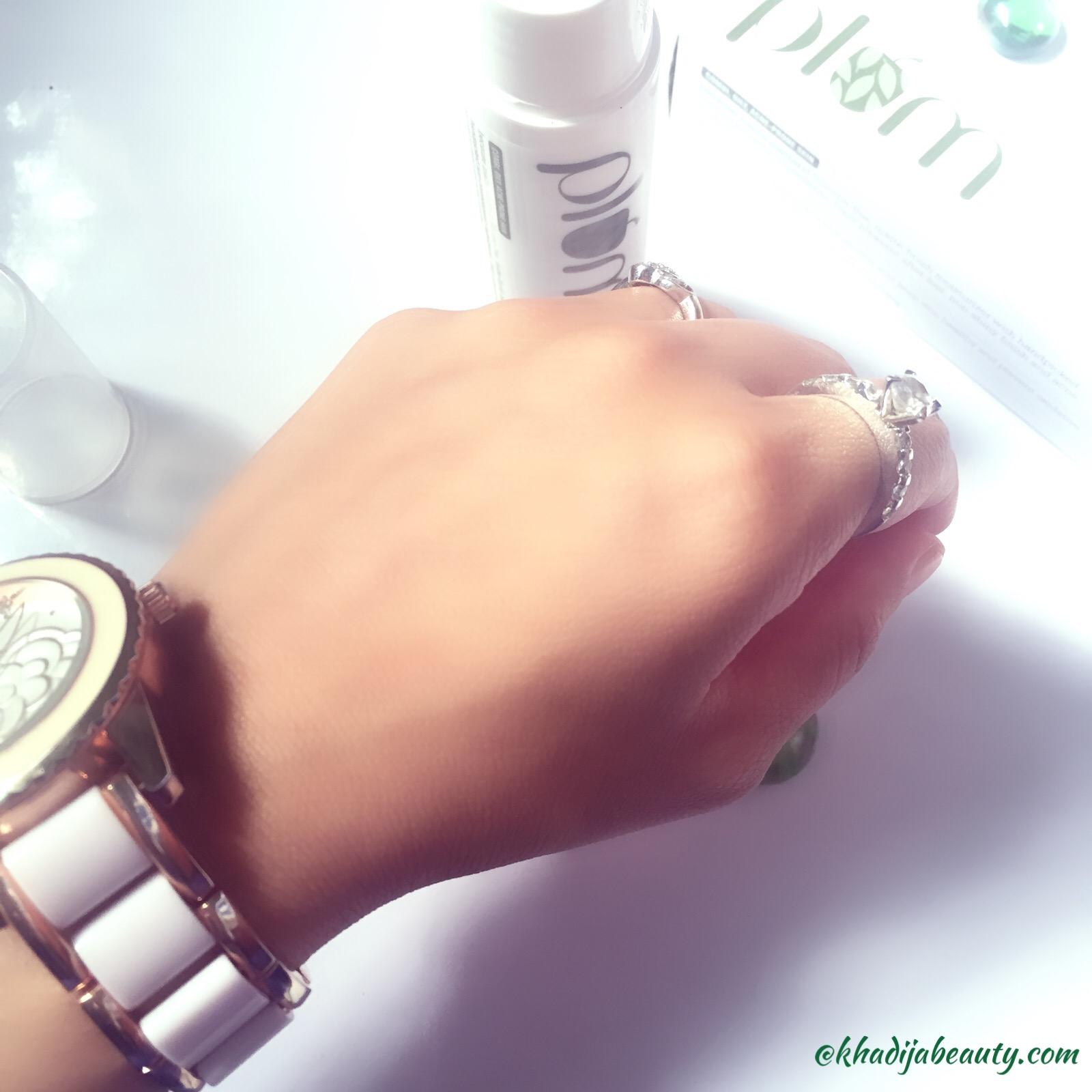 plum green tea mattifying moisturizer, khadija beauty