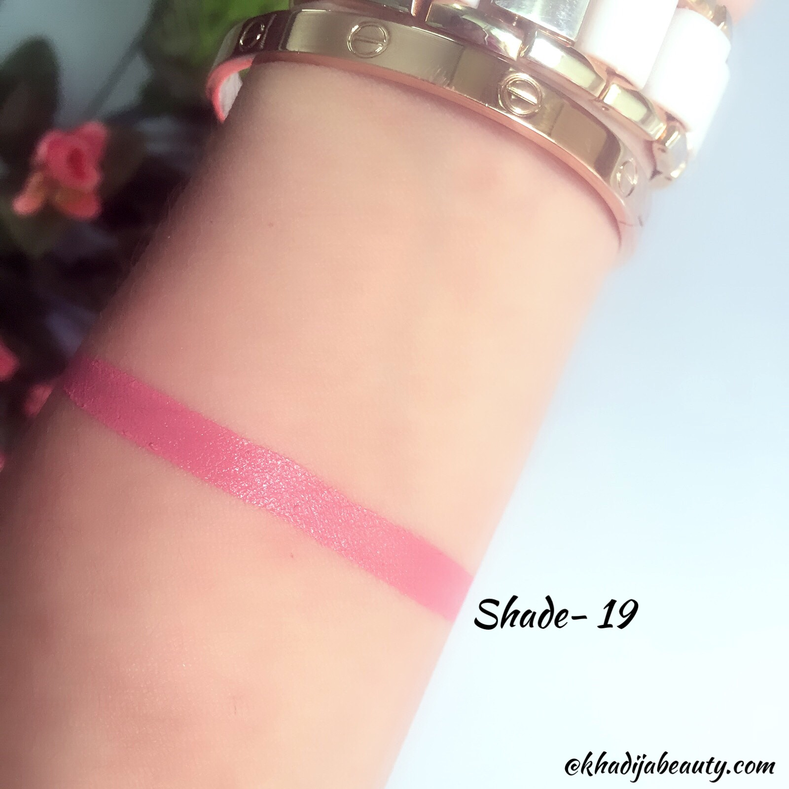 miss claire soft matte lip cream shade 19 review and swatches, khadija beauty
