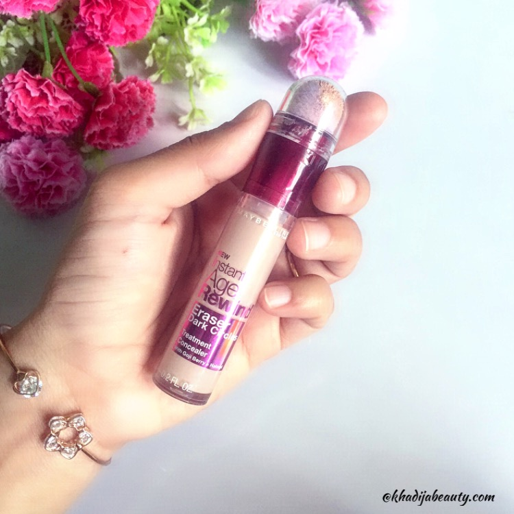 maybelline instant age rewind concealer review and swatches, khadija beauty