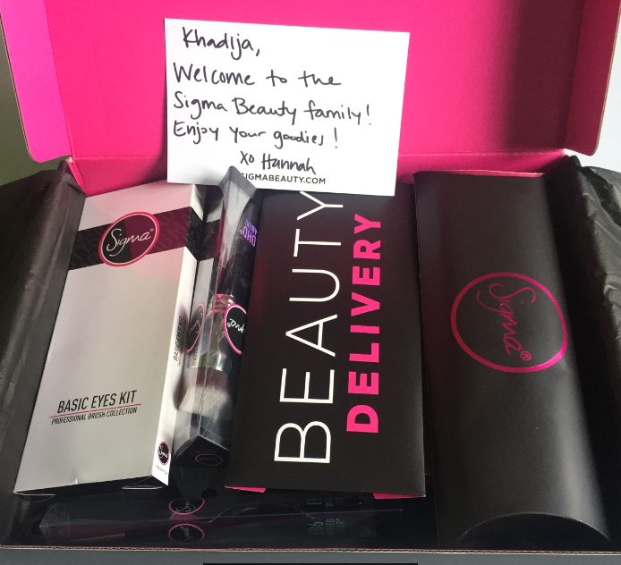 Sigma Eye liner, Makeup brushes, lipsticks and more  Goodies I received