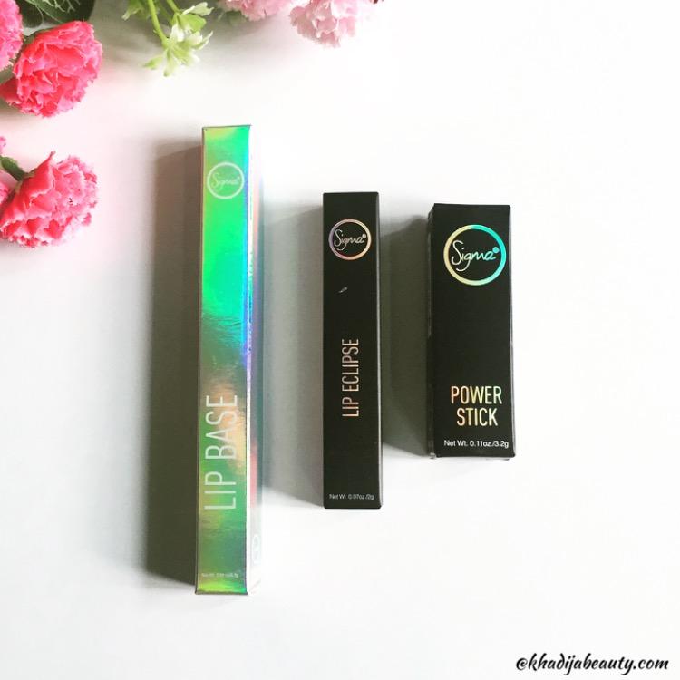 sigma lipsticks, khadija beauty, sigma beauty