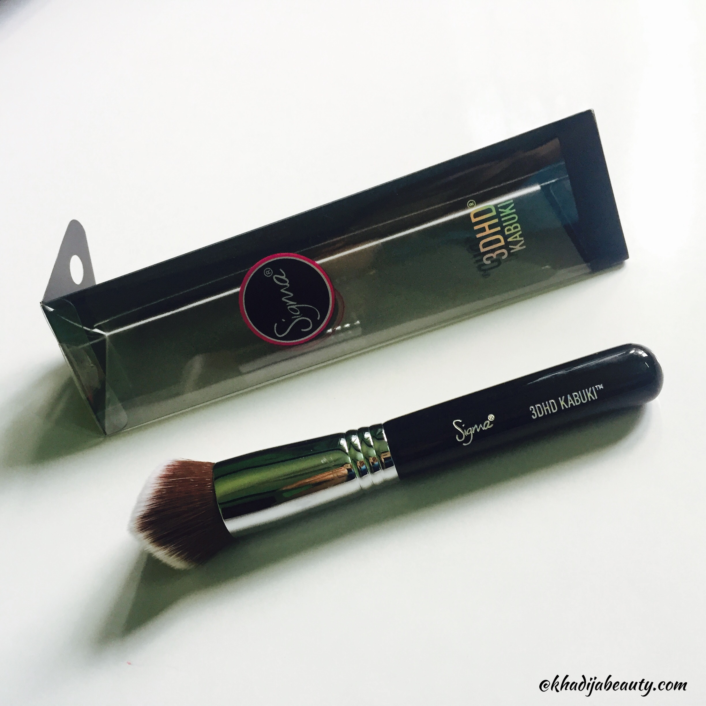 sigma 3DHD kabuki brushes, khadija beauty, sigma beauty
