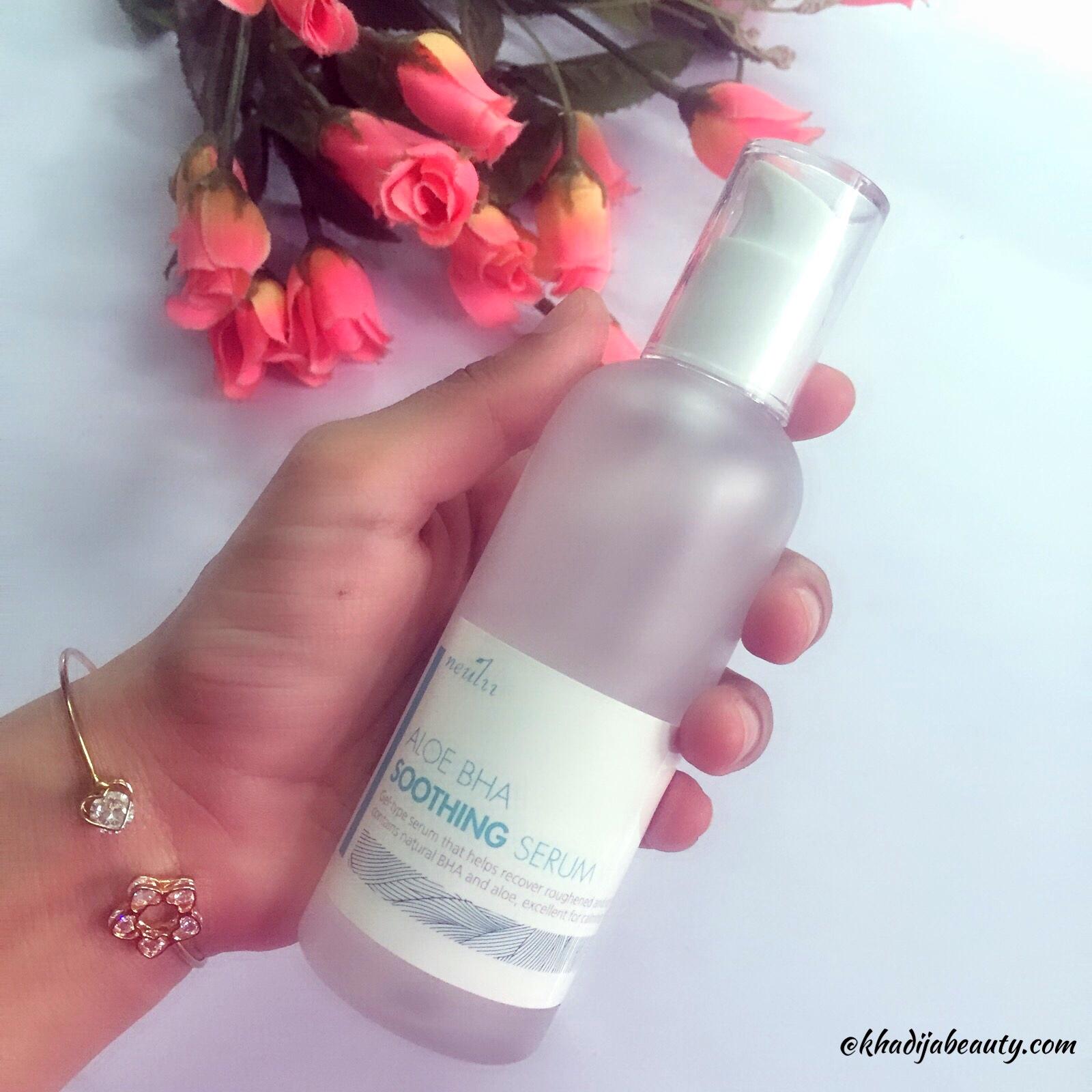 Neulii Aloe BHA serum review, khadija beauty, best serum