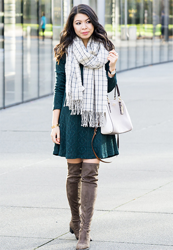 winter dressing style, khadija beauty