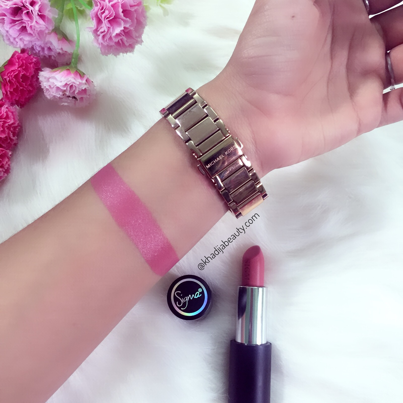 sigma power stick review and swatches in spades, khadija beauty
