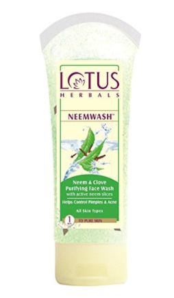lotus neem face wash, khadija beauty