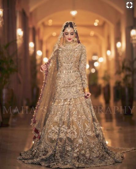 bridal lehanga, khadija beauty