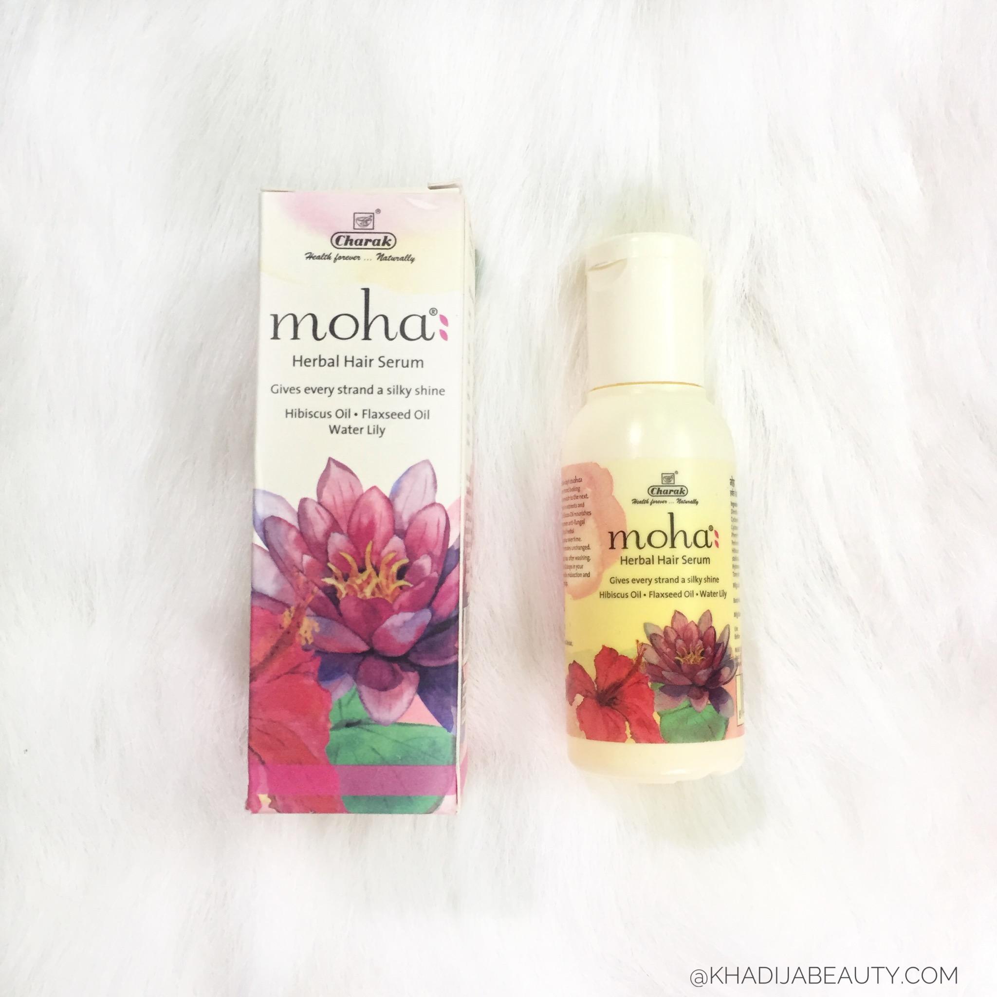 moha 5 in 1 hair oil review, moha herbal hair serum reiew, khadja beauty