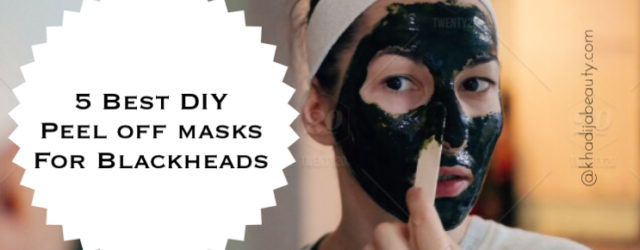 DIY peel off masks for black heads, khadija beauty