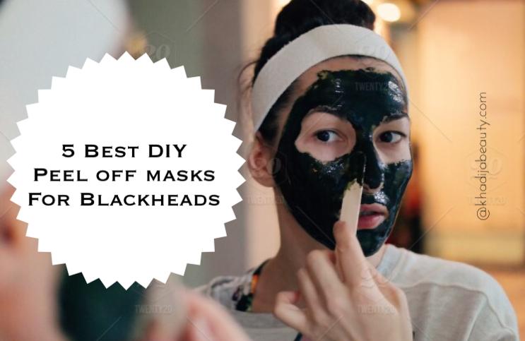 DIY peel off masks for black heads, khadija beauty