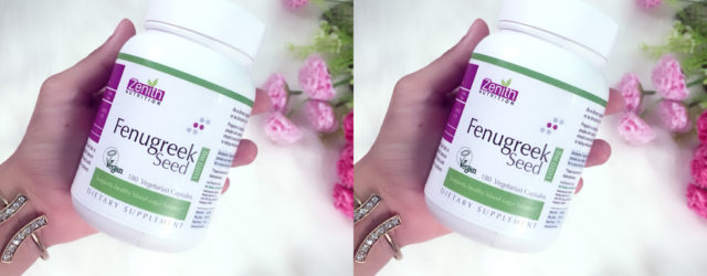 Zenith nutrition fenugreek capsule review, benefits of fenugreek, khadija beauty
