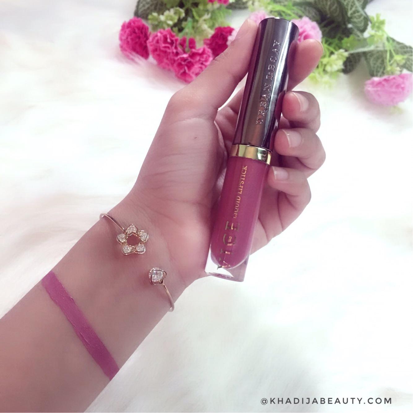 urban decay vice liquid lipstick trivial review & swatches, khadija beauty