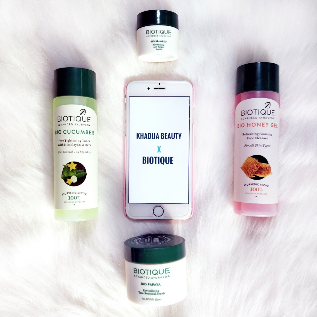 Biotique toner, cleanser, eye gel, scrub review, khadija beauty