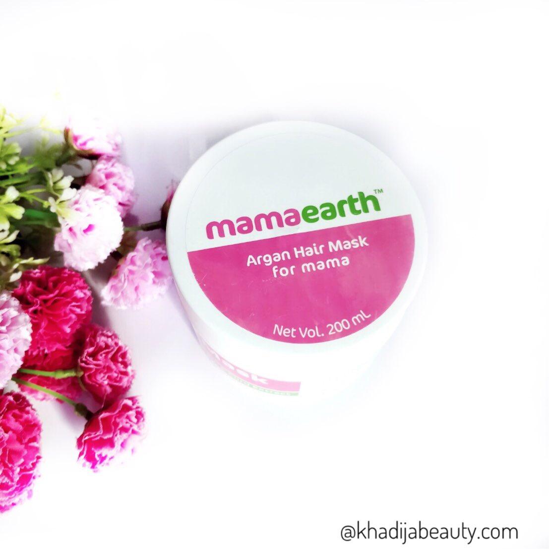 mamaearth hair mask, khadija beauty