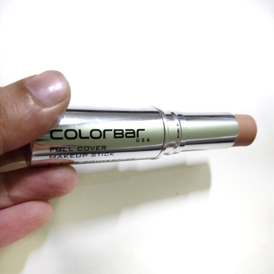 Colorbar full cover makeup stick review, khadija beauty