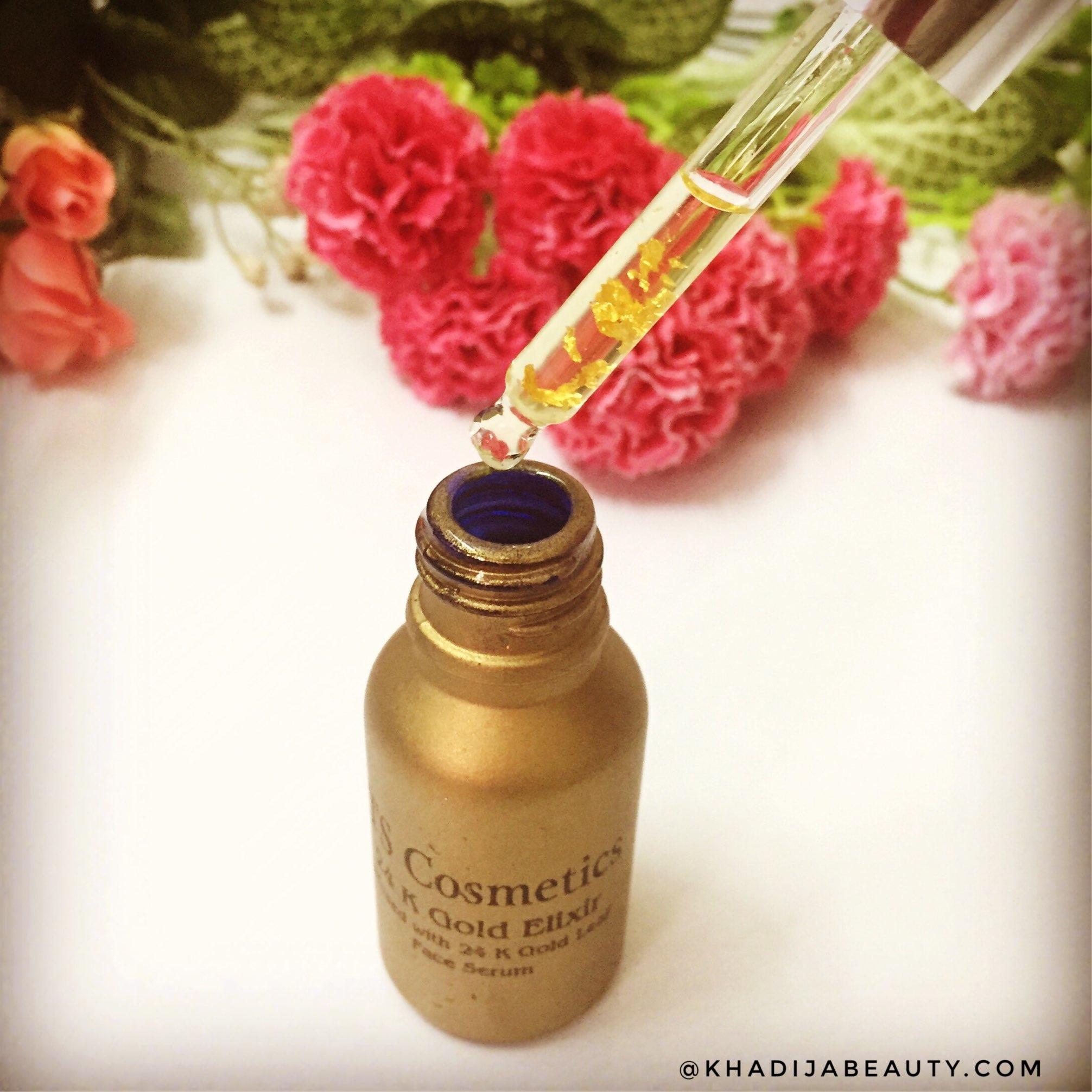 ts cosmetics 24K gold elixir, khadija beauty