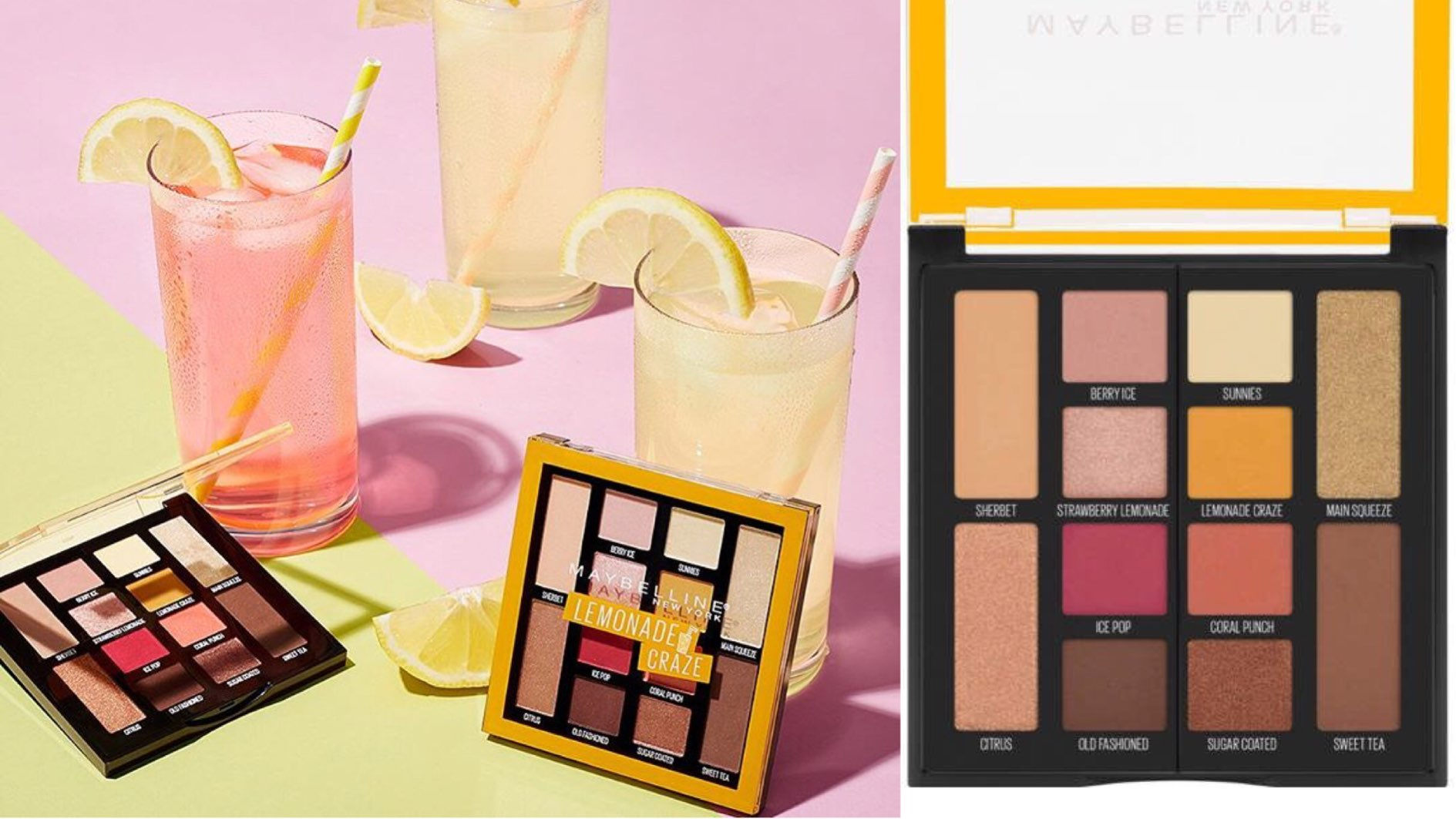 Maybelline lemonade craze eyeshadow palette- Available, Swatches, price| New launch| Dupe of high-end palettes