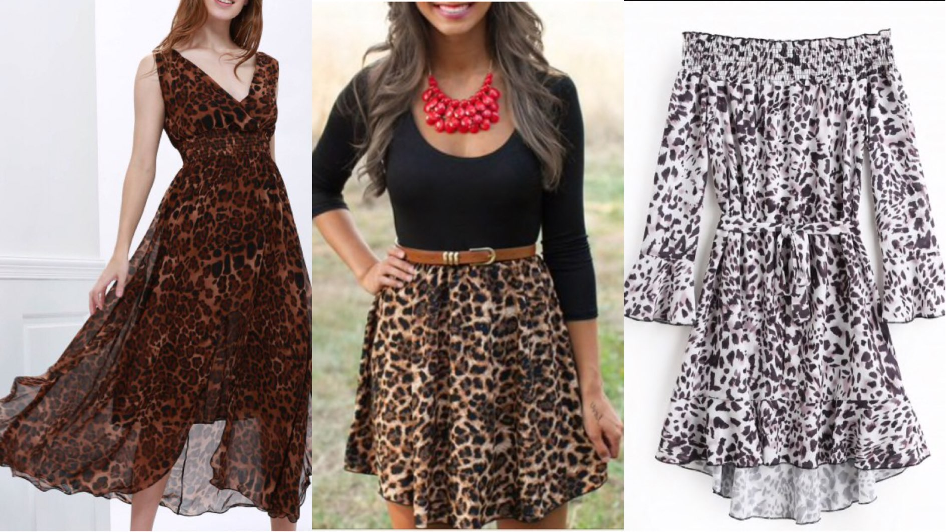 Dresses that can never go out of style, zaful animal print dress