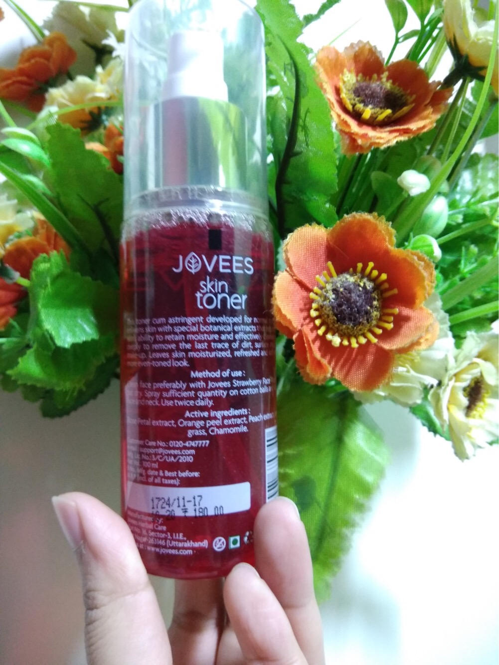 jovees rose skin toner review, khadija beauty