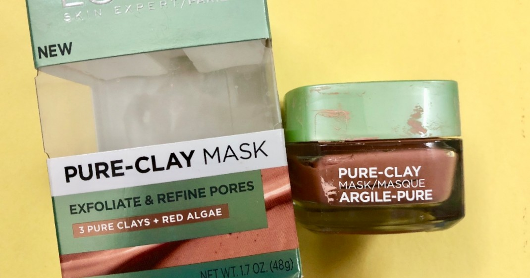Loreal Pure Clay Mask Exfoliate and Refine Pores Review| Shrinks the pores