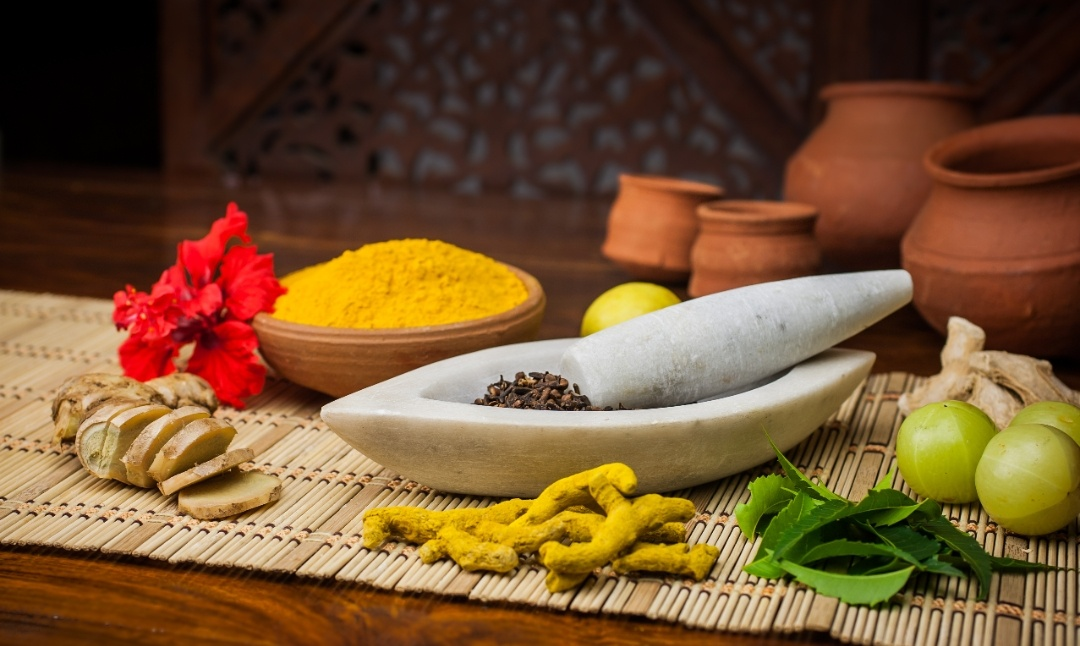 Ayurvedic herbs for skin hair and health