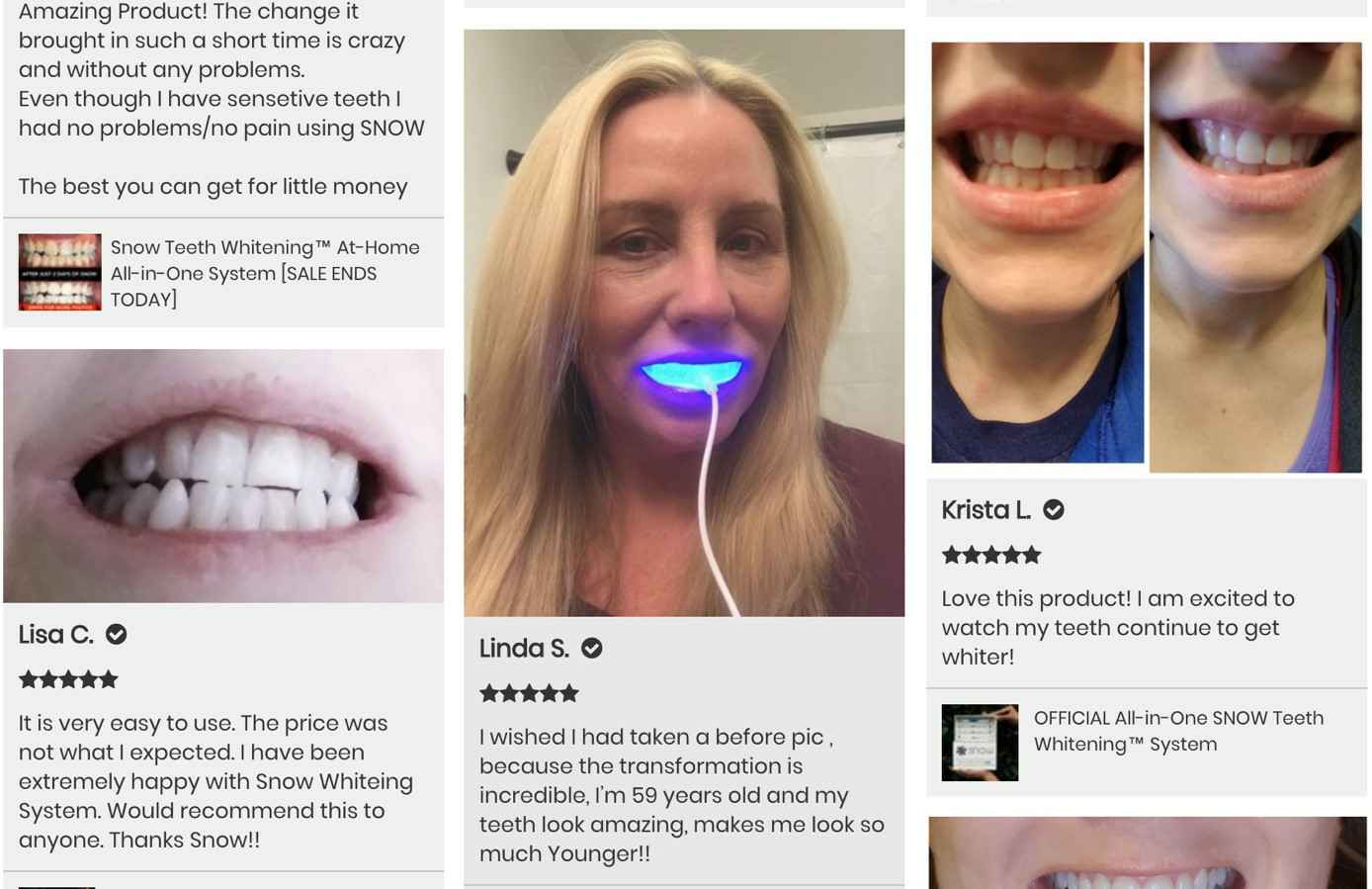 Features New  Snow Teeth Whitening Kit