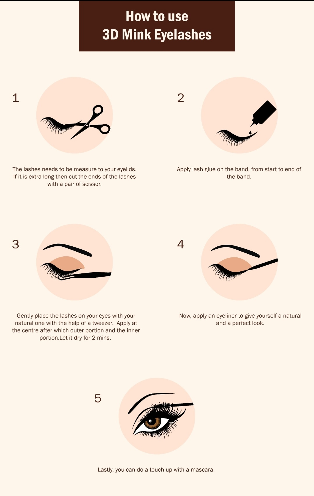 How To Apply 3d Mink Eyelashes