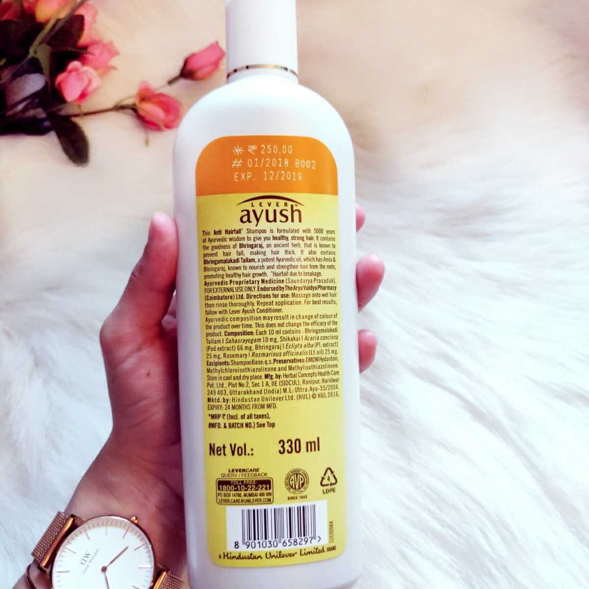 Lever Ayush Anti Hairfall Bhringaraj Shampoo Review