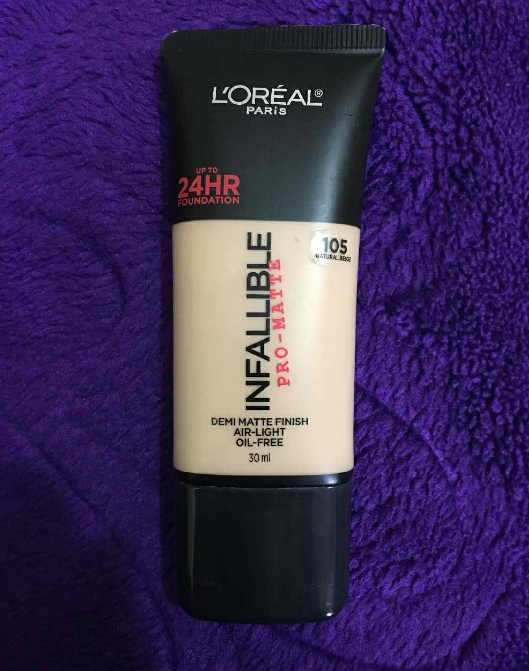 LOREAL INFALLIBLE PRO-MATTE 24HR FOUNDATION REVIEW