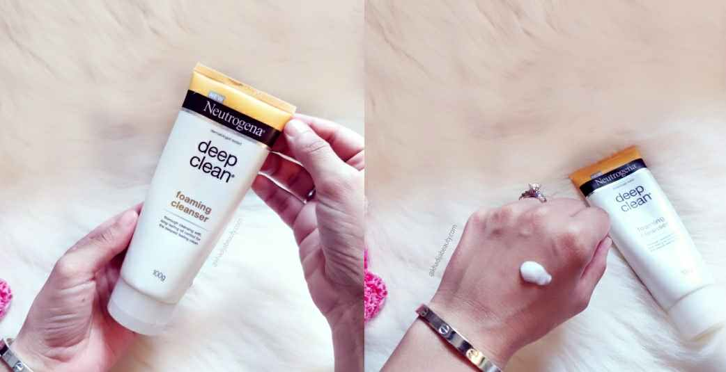 Neutrogena deep clean foaming cleanser Review | Oil control