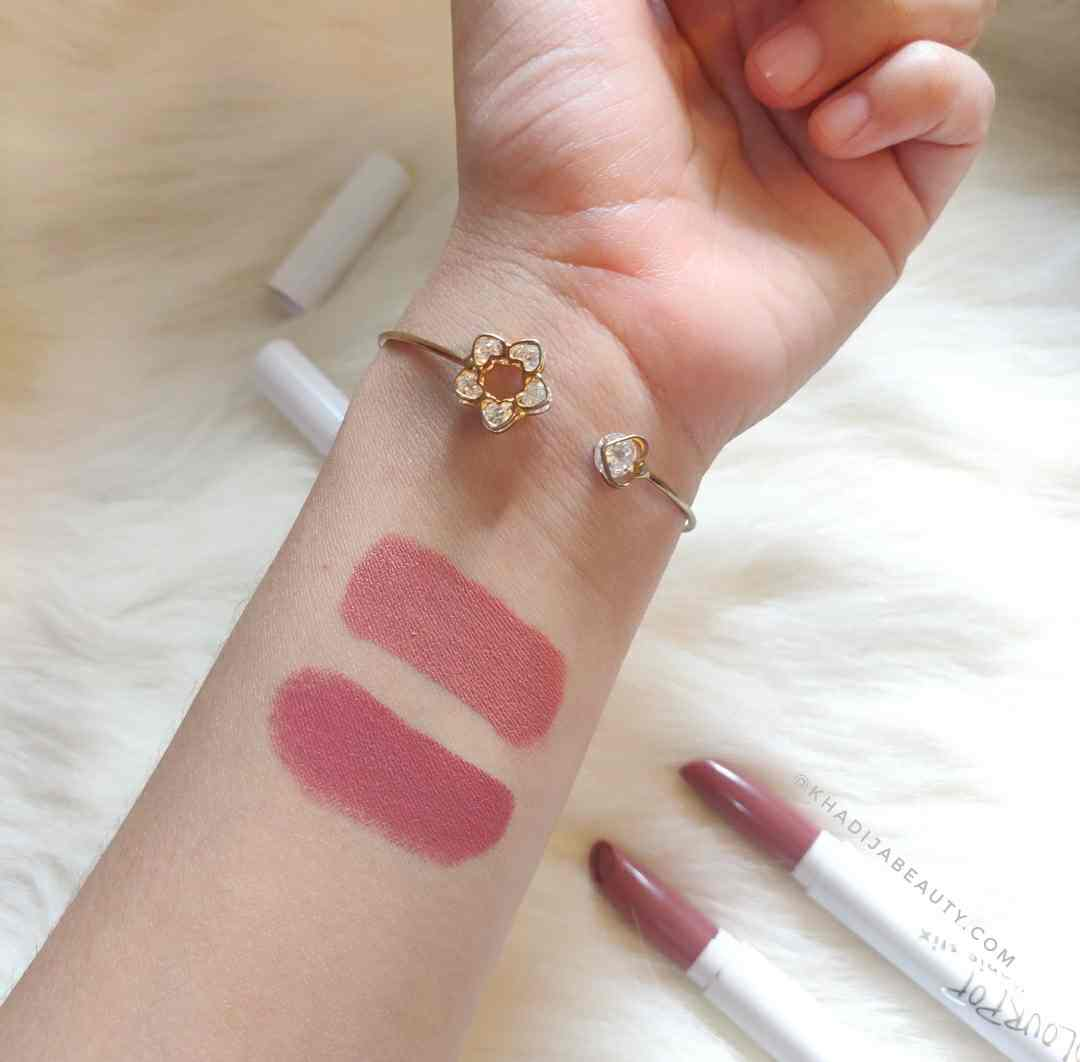 colourpop lippie stix brink, goal digger swatches