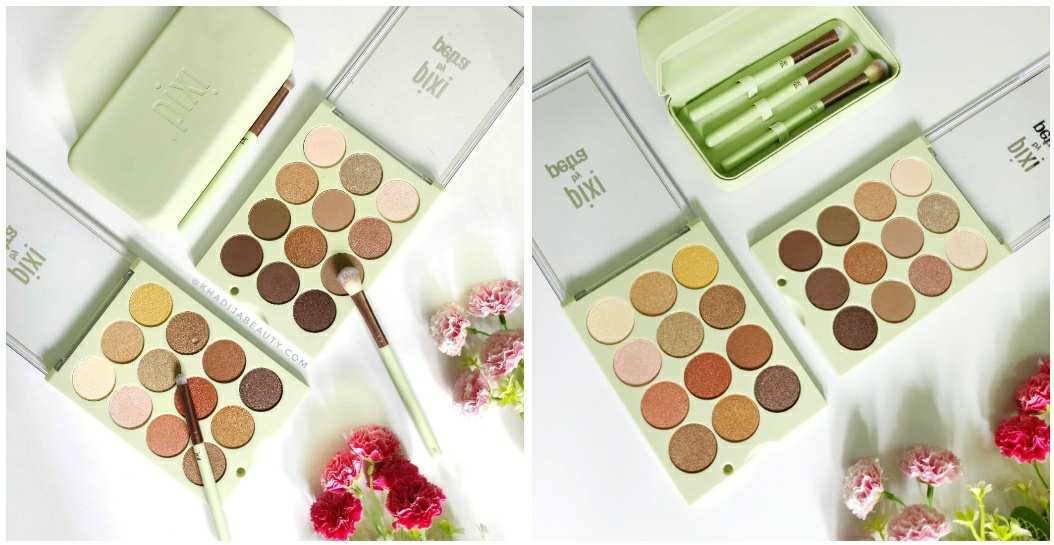 Pixi Eye reflection shadow palette review & swatches | Natural beauty| Reflex light